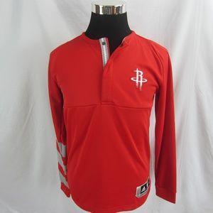 Adidas NBA Houston Rockets Quarter Snap Shirt Sz S